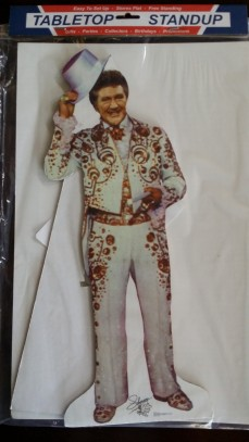 Liberace Top Hat standing cut-out, appx 14 inches tall