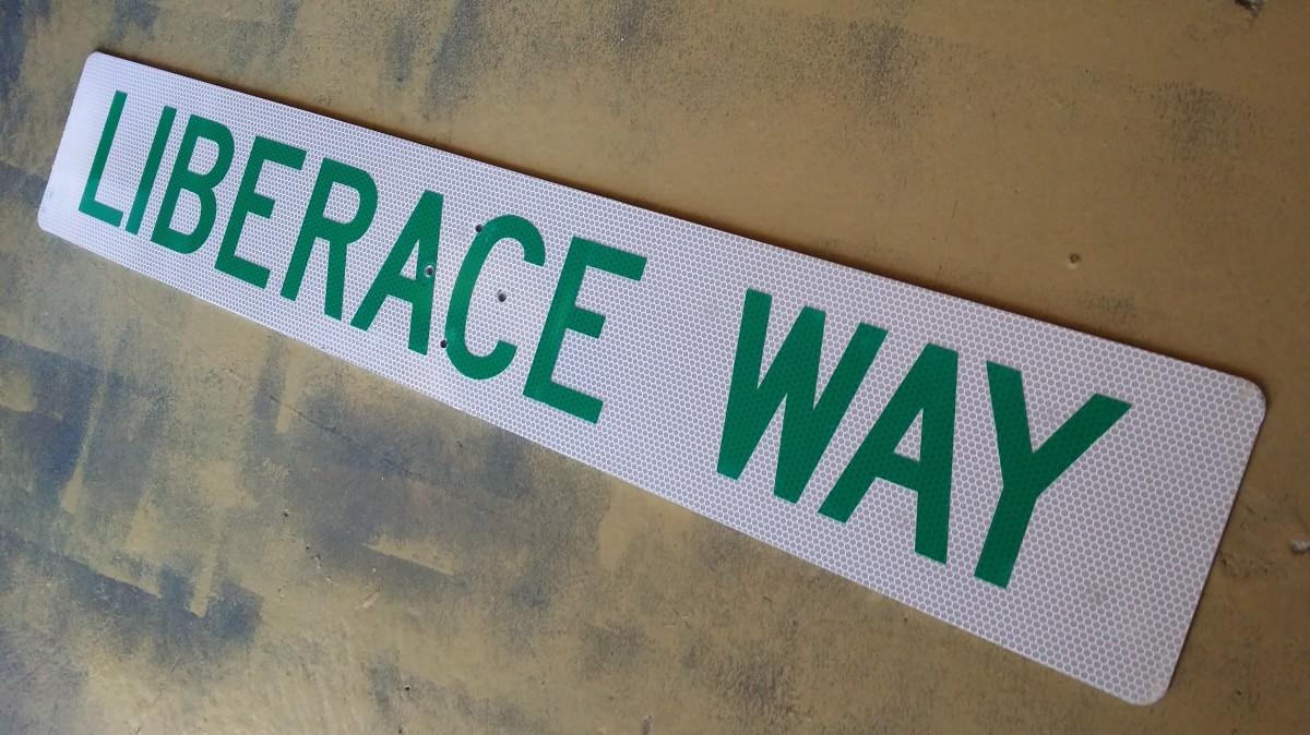 Liberace Way Street Sign