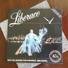 Liberace with London Philharmonic Orchestra Album Clock with sequins