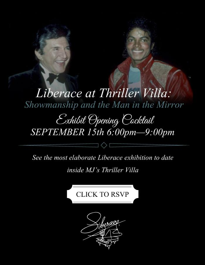 Liberace at Thriller Villa Opening Cocktail