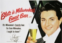Vintage Liberace ad for Blatz Beer, 1952