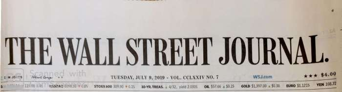 Wall Street Journal July 9, 2019