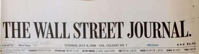 Wall Street Journal July 9, 2019