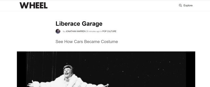 Liberace and Cars